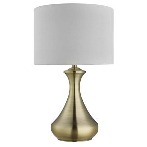 Searchlight TOUCH LAMP ANTIQUE BRASS CREAM SHADE 2750AB 01