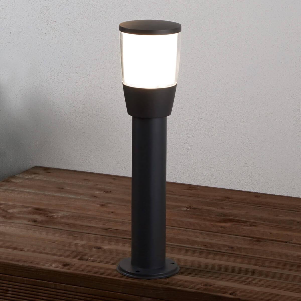 TUCSON OUTDOOR 1 LIGHT POST (45cm Height), DARK GREY