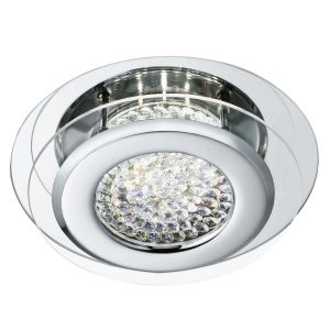 Searchlight VESTA LED CEILING FLUSH CHROME CLEAR CRYSTAL CENTRE DECO 1692CC 01 1
