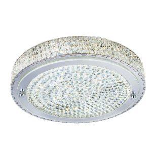 Searchlight VESTA LED CEILING FLUSH Dia 30cm CHROME CLEAR CRYSTAL CENTRE DECO 2713CC 01 1