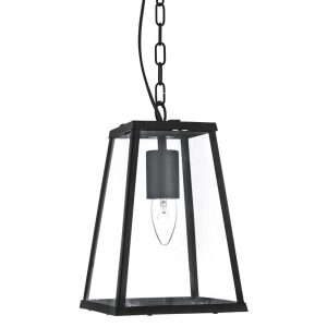 Searchlight VOYAGER 1 LIGHT LANTERN TAPERED BLACK WITH CLEAR GLASS 4614BK 01 1