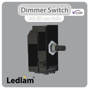 Varilight V Com LED Dimmer Switch Push on off 1 Gang max 20 LEDs 15W 180W module only 30519 01