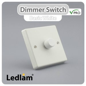 Varilight V Pro Dimmer Switch Push on off 1 Gang White 30130 01 1