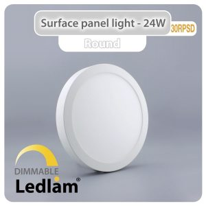 Ledlam LED Surface Panel Light 24W Round 30RPSD dimmable 01