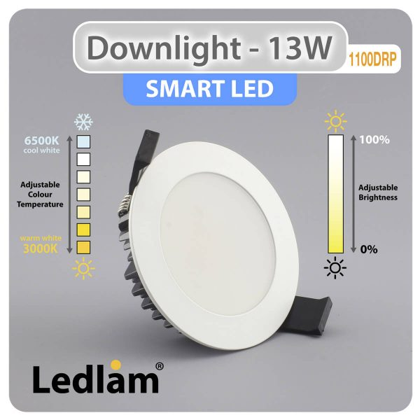 Ledlam Downlight Smart LED 1100DRP 13W CCT Adjustable dimmable 31197 01