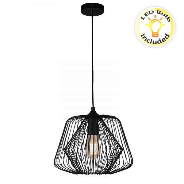 Searchlight-BELL-CAGE-1LT-CAGE-PENDANT-MATT-BLACK-0211BK-01