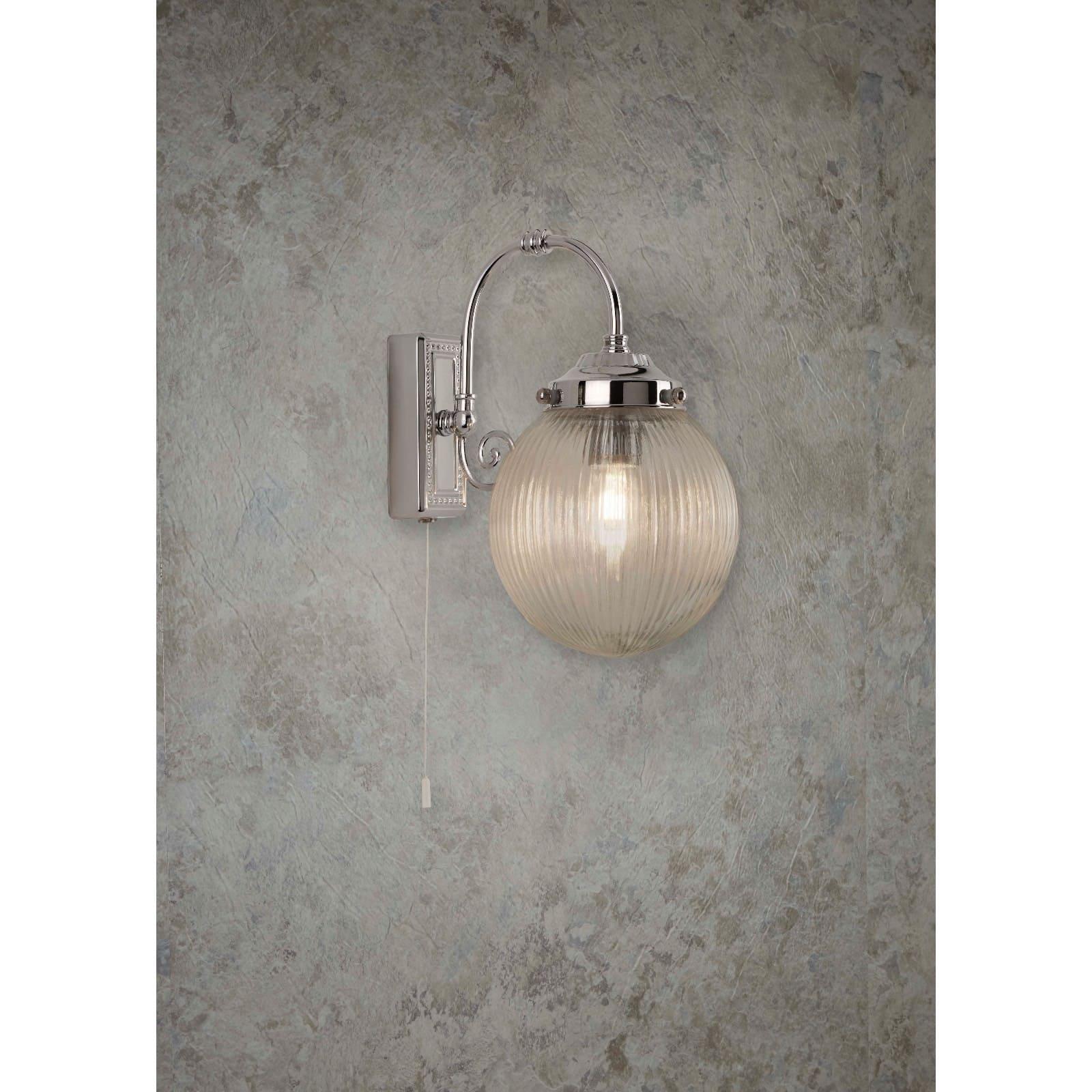 Belvue 1lt Bathroom Ip44 Wall Light
