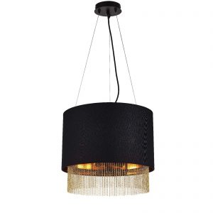 Searchlight-FRINGE-3LT-PENDANT-BLACK-SHADE-WITH-GOLD-CHAIN-8723-3BK-01