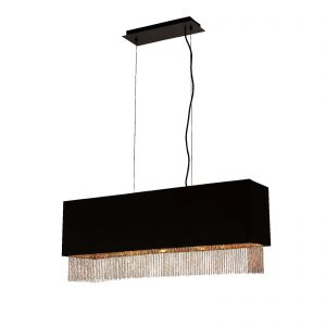 Searchlight-FRINGE-4LT-PENDANT-BLACK-SHADE-WITH-GOLD-CHAIN-8724-4BK-01