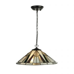 Searchlight-GATSBY-TIFFANY-2LT-PENDANT-BRONZE-BLACK-CLEAR-WHITE-MULTI-6072-42-01