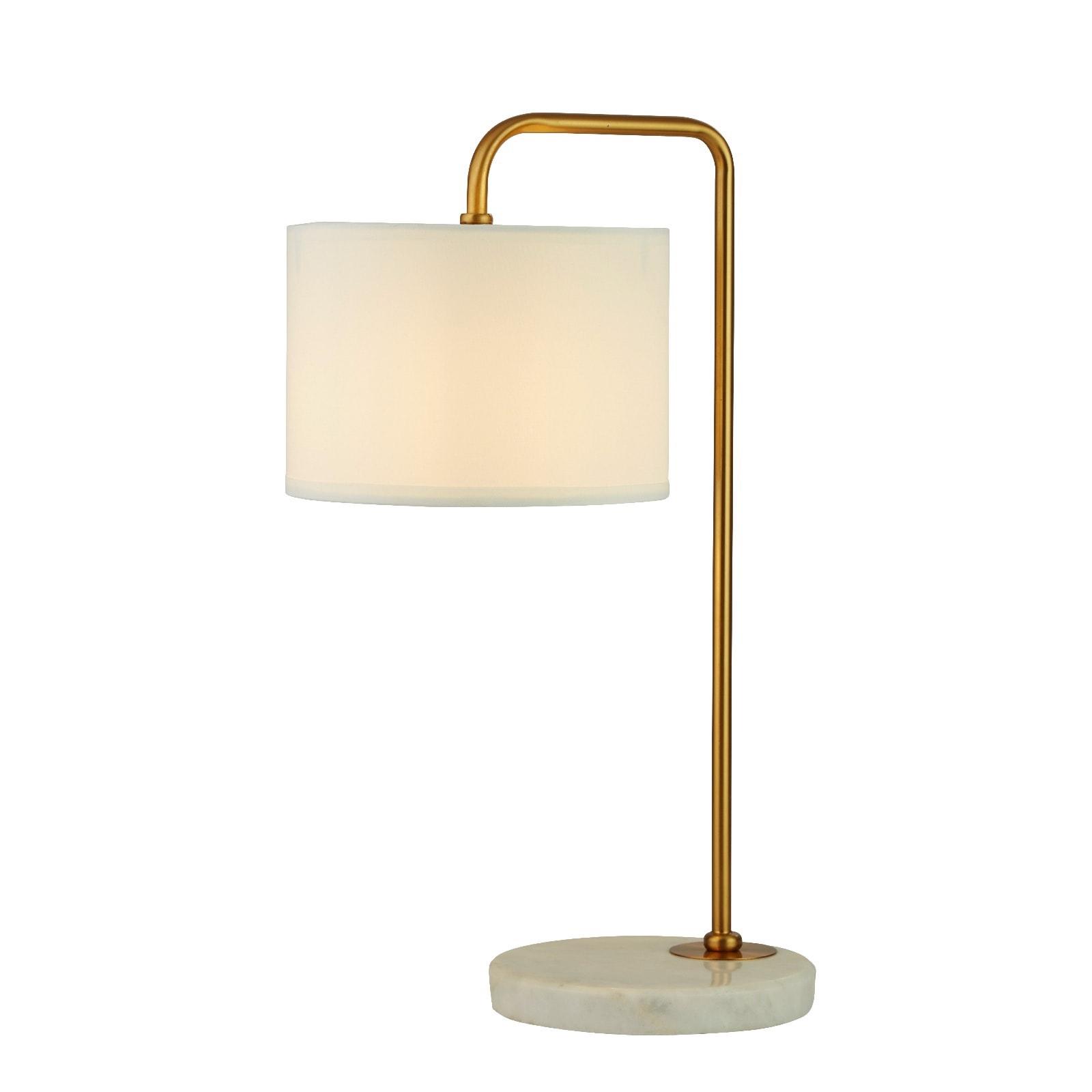 HANGMAN GOLD TABLE LAMP WITH WHITE MARBLE BASE - Ledlam ...