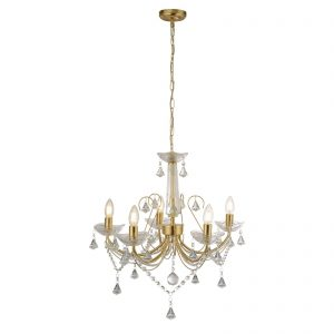 Searchlight-LAFAYETTE-5LT-CEILING-GOLD-CLEAR-CRYSTAL-1395-5GO-01