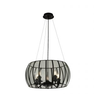 Searchlight-PENDANT-5LT-BOUND-GLASS-BLACK-CLEAR-9515-5BK-01