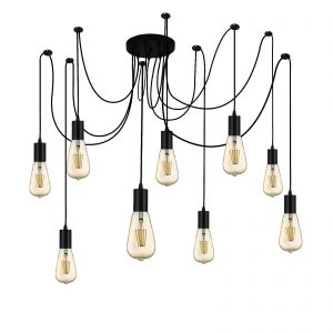 Searchlight-SQUIGGLE-9LT-PENDANT-BLACK-9669-9BK-01
