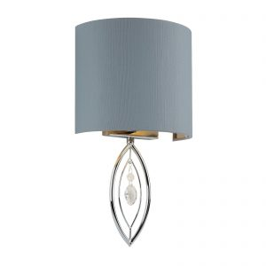 Searchlight-WALL-LIGHT-CHROME-WITH-GREY-SHADE-AND-CRYSTAL-DROP-9137CC-01