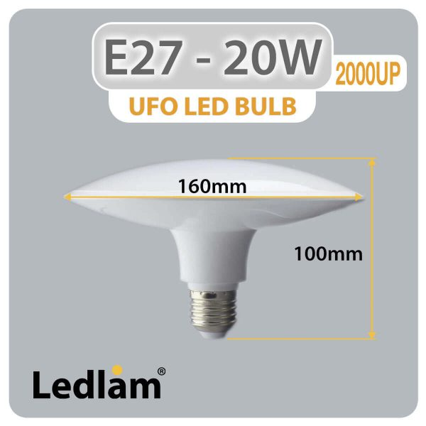 Ledlam-E27-UFO-LED-Bulb-20W-2000UP-Dimensions-1