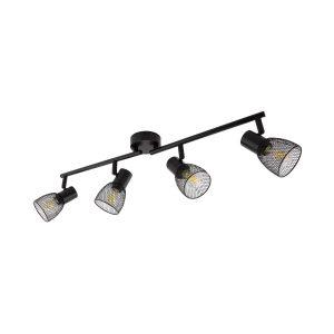 Black-Adjustable-Linear-Grid-Ceiling-Light-with-4x-Spotlights-LTL-GR4F-E14-01
