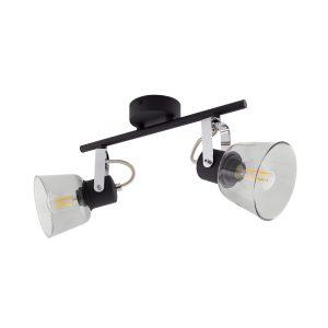 Black-Adjustable-Tivo-Ceiling-Light-with-2x-Spotlights-LO-T2F-E14-01