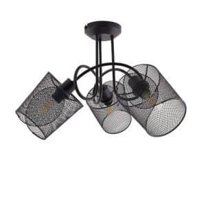 Black-Klam-Pendant-Light-with-3x-Spotlights-L-KL3F-E14-01