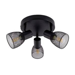Black-Round-Adjustable-Grid-Ceiling-Light-with-3x-Spotlights-LTC-GR3F-E14-01