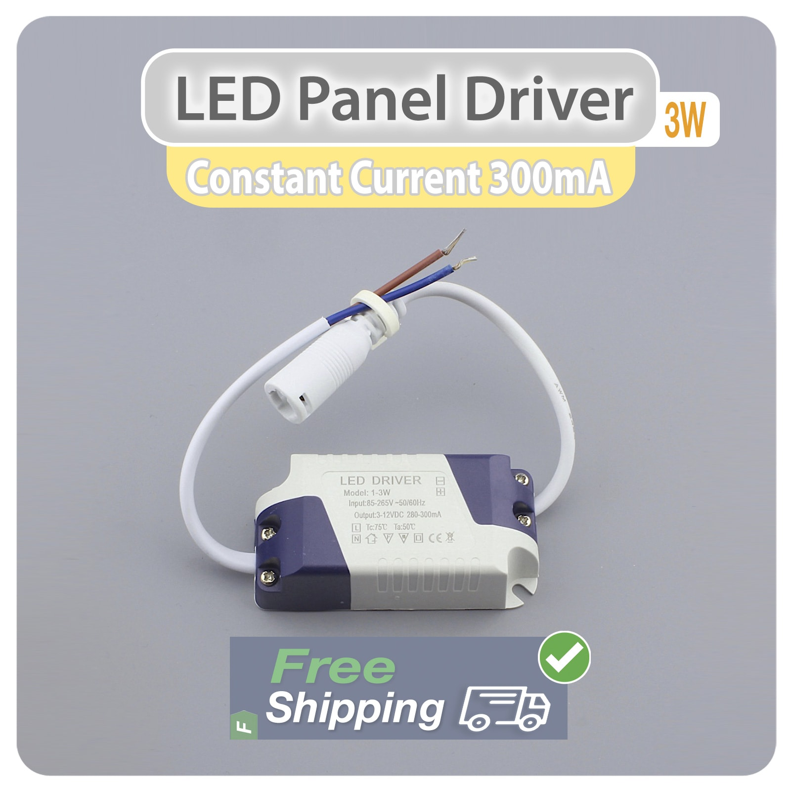 1W-24W LED Driver 300mA Power Supply Transformer Convertor Ceiling Panel Lights
