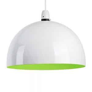 MiniSun-Curva-Non-Electric-Pendant-White-with-Green-Interior-16915-01