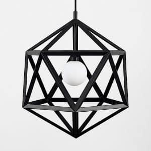 MiniSun-ICONIC-Cubik-Cubism-Matt-Black-Electric-Pendant-22083-01