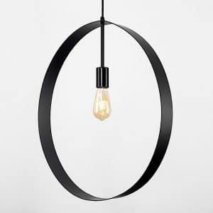 MiniSun-ICONIC-Lapal-XL-Matt-Black-Loop-Electric-Ceiling-Pendant-22078-01
