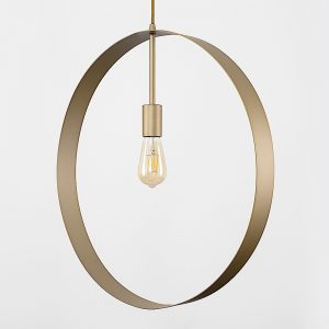 MiniSun-ICONIC-Lapal-XL-Painted-Gold-Loop-Electric-Ceiling-Pendant-22079-01