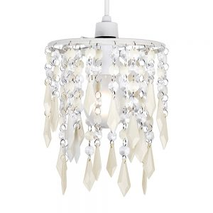 MiniSun-Non-Electric-Pendant-Shade-with-Cream-Clear-Acrylic-Droplets-17869-01