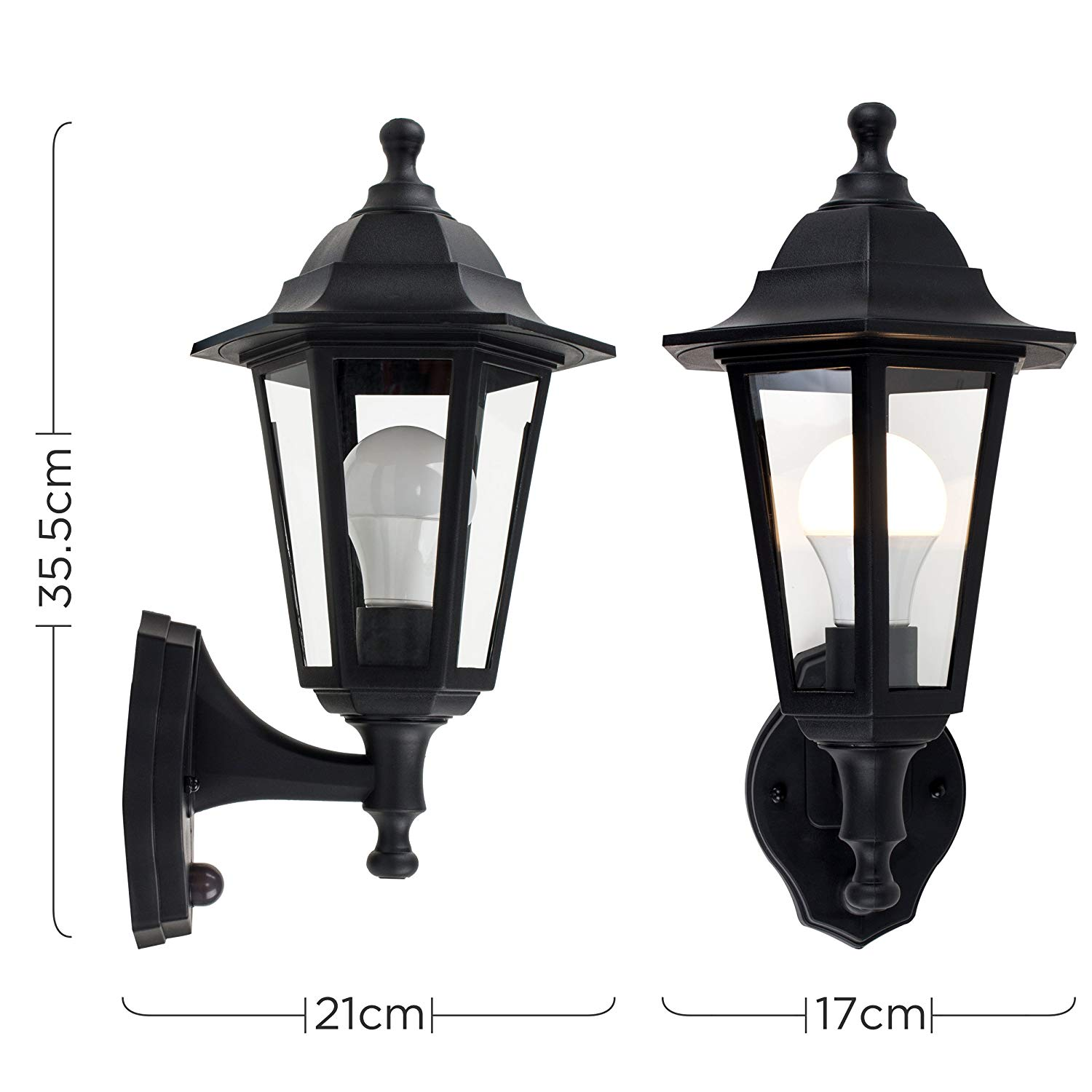 Traditional Style Black Outdoor Security Dusk to Dawn IP44 ...