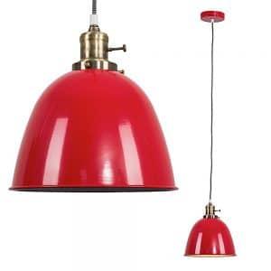 MiniSun-Wilhelm-Antique-Brass-Electric-Pendant-Red-Metal-Shade-Zebra-22717-01