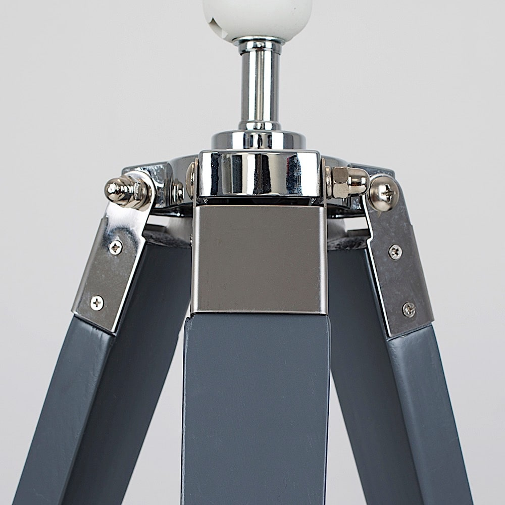 Clipper Grey / Chrome Tripod Table Lamp Base Only - Ledlam ...