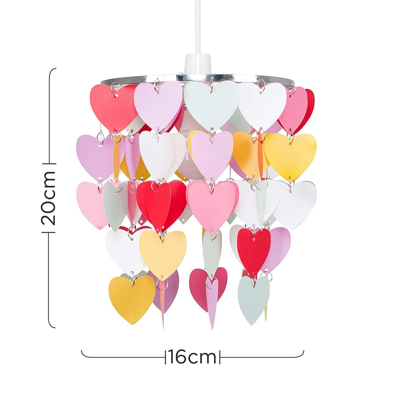Girls Pretty Hearts Bedroom/Nursery Ceiling Pendant Light ...