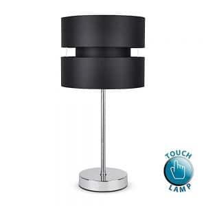 MiniSun-Pinto-Stick-Touch-Table-Lamp-Chrome-Black-Shade-18046-01