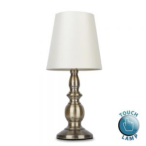 MiniSun-Sierra-Traditional-Touch-Table-Lamp-Antique-Brassed-Cream-Shades-18043-01
