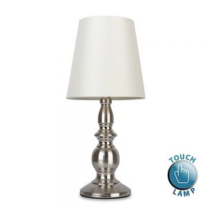 MiniSun-Sierra-Traditional-Touch-Table-Lamp-Satin-Nickel-Cream-Shades-18044-01