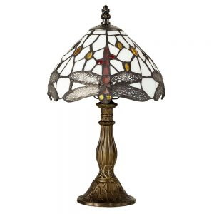 MiniSun-Tiffany-Style-Antique-Brass-Effect-Base-Green-White-Stained-Glass-Jewelled-Dragonfly-Design-Table-Lamp-19743-01-1