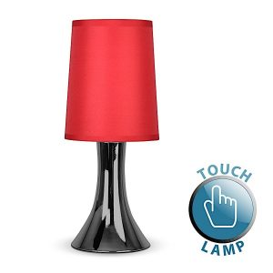MiniSun-Trumpet-Touch-Table-Lamp-Black-Chrome-Red-16826-01