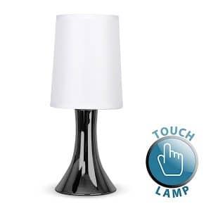 MiniSun-Trumpet-Touch-Table-Lamp-Black-Chrome-White-16824-01