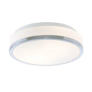 Searchlight-DISCS-BATHROOM-IP44-2-LIGHT-FLUSH-OPAL-WHITE-GLASS-SHADE-WITH-CHROME-TRIM-DIA-28CM-7039-28CC-01
