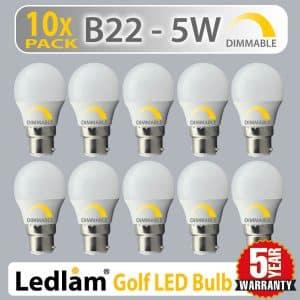 Ledlam-10-pack-Dimmable-5W-B22-BC-Bayonet-LED-Golf-Light-Bulb-warm-day-cool-white-40W-01-1