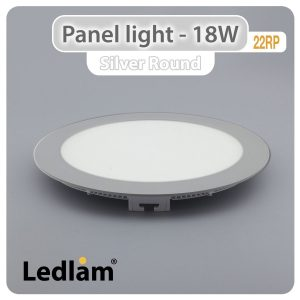Ledlam-LED-Panel-Light-18W-Round-22RP-silver-01