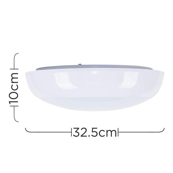 MiniSun-15w-LED-Bulkhead-Round-Light-with-Microwave-Motion-Sensor-Modern-IP54-Rated-24087-Dimensions