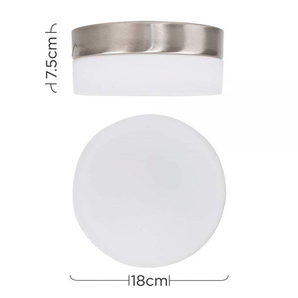 MiniSun-Bulkhead-Flush-Ceiling-Light-Modern-Opal-Frosted-White-Glass-Round-E27-19810-Dimensions