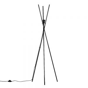 MiniSun-Crawford-Tripod-Floor-Lamp-Gloss-Black-BASE-ONLY-22141-01