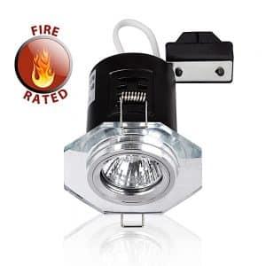 MiniSun-Fire-Rated-Hexagon-GU10-Downlight-Chrome-NO-BULB-Clear-Glass-18843-01