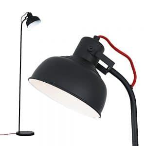 MiniSun-Marley-Matt-Black-Curved-Floor-Lamp-Red-Flex-22823-01