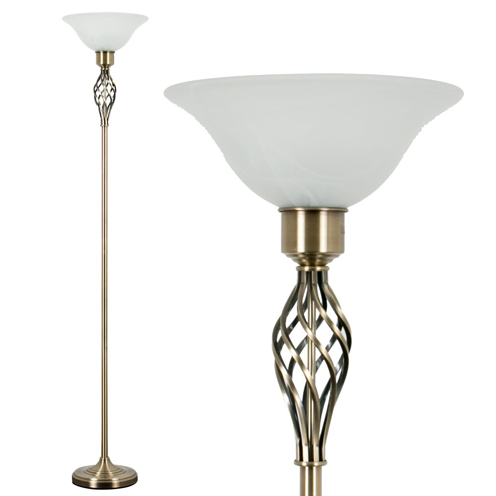 Antique Br Uplighter Floor Lamp