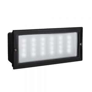 MiniSun-Modern-LED-Outdoor-Brick-Light-Aluminium-Frosted-Glass-Black-IP54-18721-01